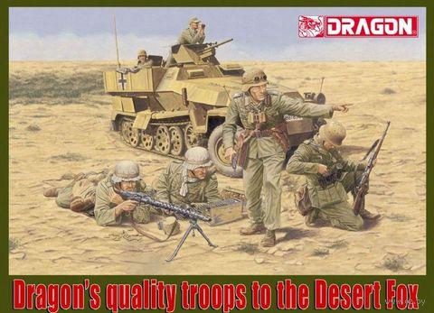 """Набор миниатюр """"Afrika Korps Panzergrenadier El Alamein 1942"""" (масштаб: 1/35) — фото, картинка"""