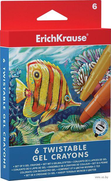 """Мелки гелевые """"Twist Erich Krause"""" (6 цветов)"""