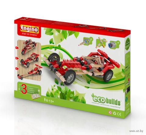"""Конструктор """"Eco Builds. Гоночные машины с мотором"""" (177 деталей)"""