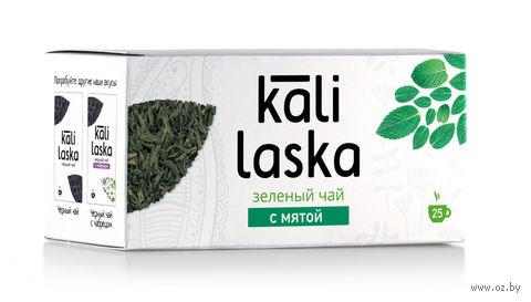 """Чай зеленый """"Kali Laska. С мятой"""" (25 пакетиков) — фото, картинка"""
