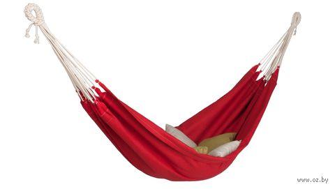 Гамак из натурального льна (красный) — фото, картинка