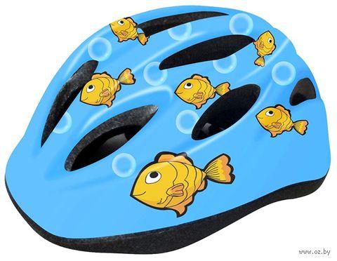 """Шлем велосипедный детский """"WT-021"""" (чёрно-голубой) — фото, картинка"""
