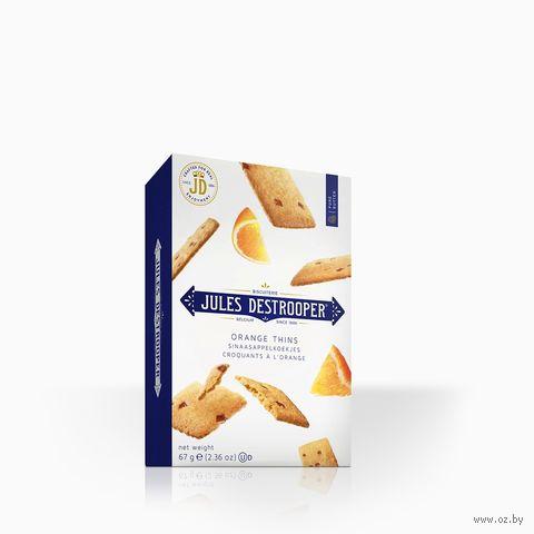 """Печенье """"Jules Destrooper. С кусочками апельсина"""" (67 г) — фото, картинка"""