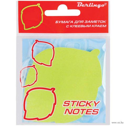 """Бумага для заметок на клейкой основе """"Лист"""" (зеленая; 50 листов)"""