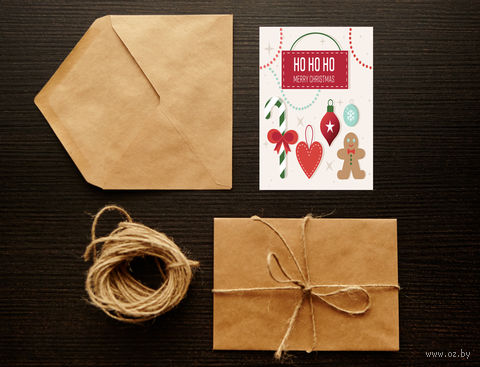 "Открытка ""Merry Christmas"" (арт. 9) — фото, картинка"