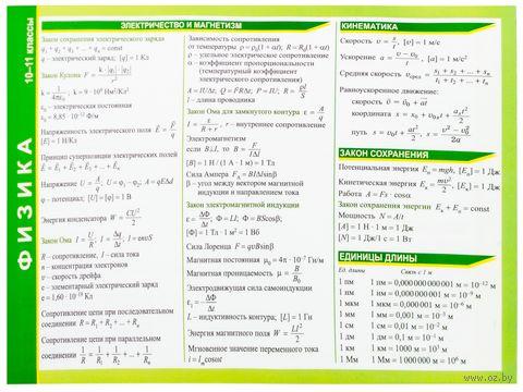 Справочные материалы: Физика. 10-11 классы — фото, картинка