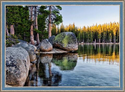 "Алмазная вышивка-мозаика ""Озеро в Карелии"" (700х500 мм) — фото, картинка"