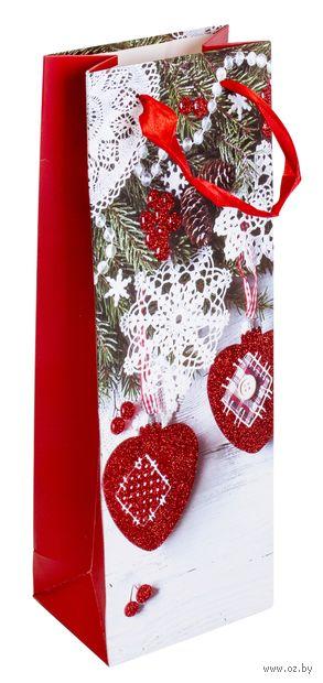 "Пакет бумажный подарочный ""Елочная игрушка"" (13х36х8,5 см; арт. ABB300110) — фото, картинка"
