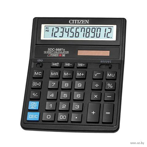 Калькулятор настольный SDC-888TII (12 разрядов) — фото, картинка