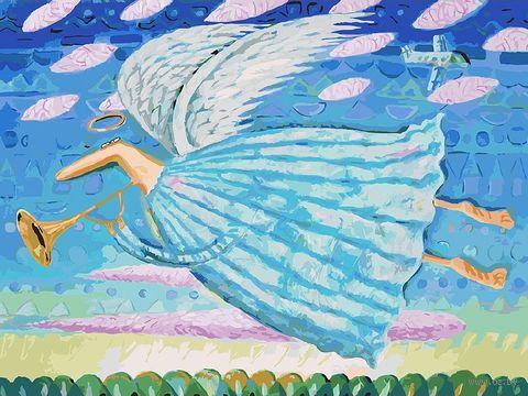 """Картина по номерам """"Ангел"""" (300х400 мм) — фото, картинка"""