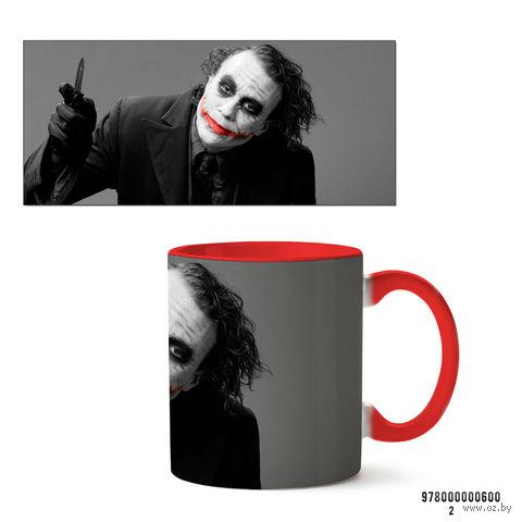 """Кружка """"Джокер из вселенной DC"""" (600, красная)"""