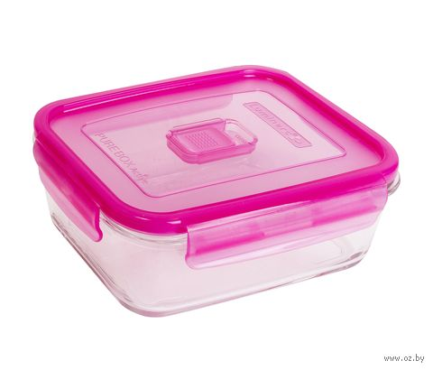 Контейнер для еды (1,22 л; розовый; арт. N0868) — фото, картинка