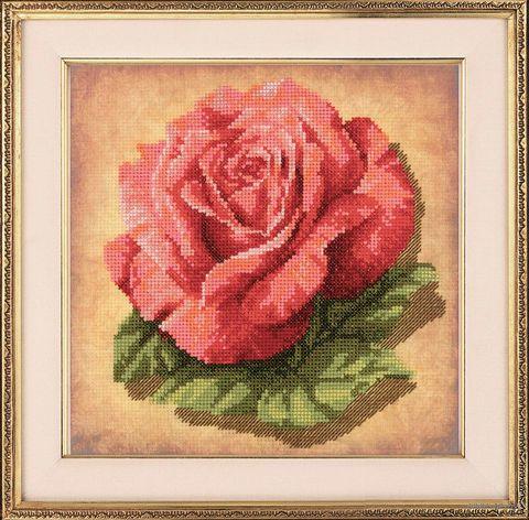 """Вышивка крестом """"Роза"""" (200х200 мм) — фото, картинка"""
