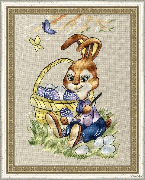 """Вышивка крестом """"Пасхальный кролик"""" (207х138 мм) — фото, картинка"""
