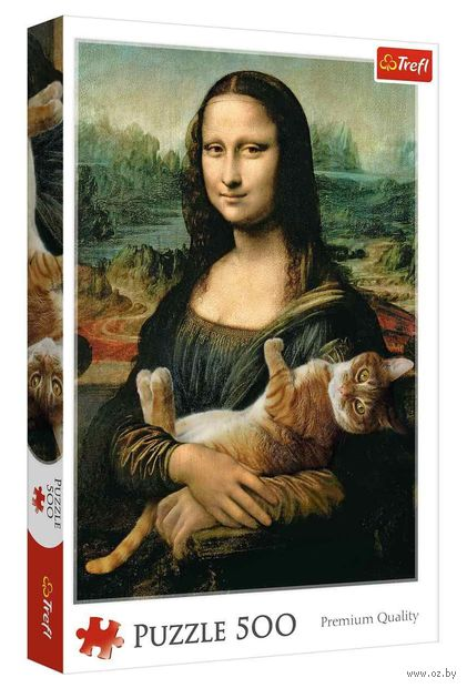 """Пазл """"Мона Лиза с котом"""" (500 элементов) — фото, картинка"""