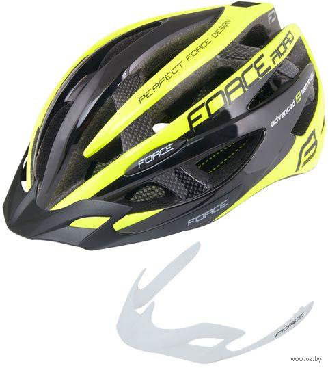 """Шлем велосипедный """"Road Junior"""" (черно-салатовый; арт. 902603) — фото, картинка"""