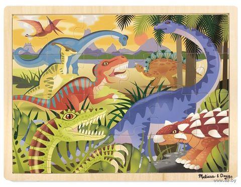 """Деревянный пазл """"Динозавры"""" (24 элемента) — фото, картинка"""