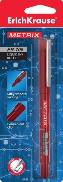 """Ручка-роллер """"METRIX ER-705"""" (красные чернила, блистер)"""
