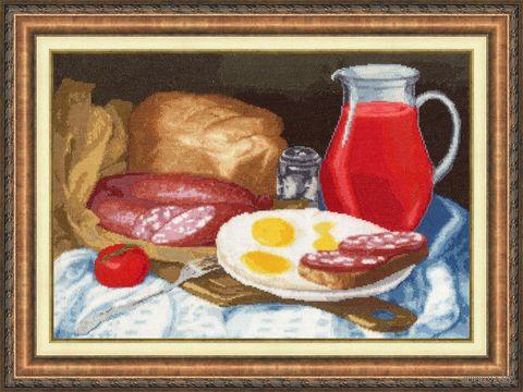 """Вышивка крестом """"Натюрморт с колбаской"""" (293х425 мм) — фото, картинка"""