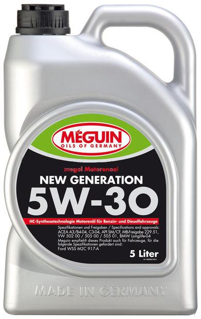"""Масло моторное """"Megol New Generation"""" 5W-30 (5 л) — фото, картинка"""