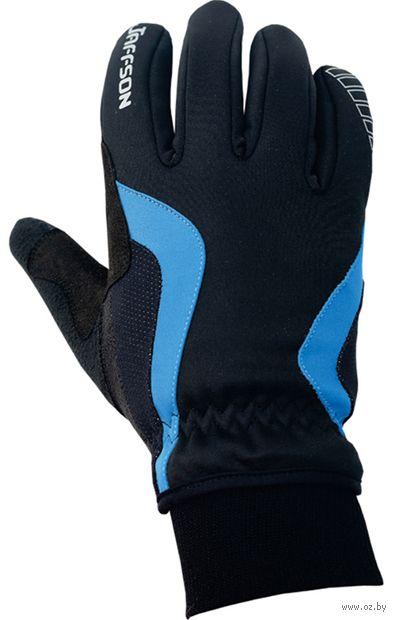 """Перчатки велосипедные """"WCG 43-0476"""" (L; чёрные/синие) — фото, картинка"""