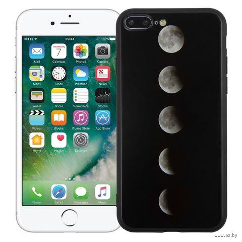 """Чехол для iPhone 7/8 Plus """"Фазы луны"""" (чёрный) — фото, картинка"""