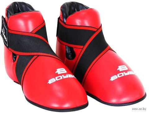 Футы для тхэквондо/кикбоксинга (XXS; красные) — фото, картинка