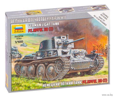 Немецкий легкий танк Pz.Kpfw.38 (Т) (масштаб: 1/100) — фото, картинка