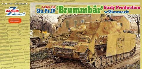 "САУ ""Sd.Kfz.166 Stu.Pz.IV Brummbar Early Production w/Zimmerit"" (масштаб: 1/35) — фото, картинка"