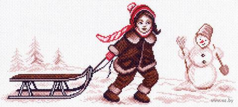 """Канва с нанесенным рисунком """"Зимние каникулы"""""""
