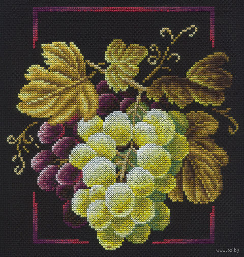 """Вышивка крестом """"Виноградная лоза"""" (230х230 мм) — фото, картинка"""