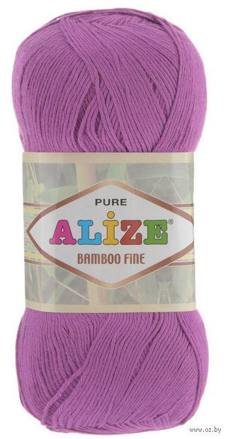 """Пряжа """"ALIZE. Bamboo Fine №46"""" (100 г; 440 м; ярко-розовый) — фото, картинка"""