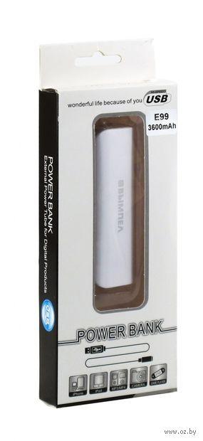 """Портативное зарядное устройство """"E99"""" (3600 мАч) — фото, картинка"""