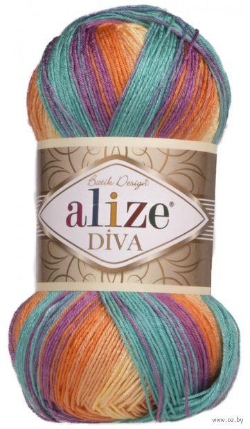 """Пряжа """"ALIZE. Diva Batik Design №7074"""" (100 г; 350 м; секционный) — фото, картинка"""