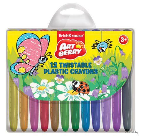 """Мелки пластиковые """"Twist Artberry"""" (12 цветов)"""