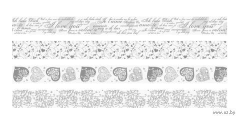 Скотч декоративный для скрапбукинга (арт. 203584385; 4 вида) — фото, картинка