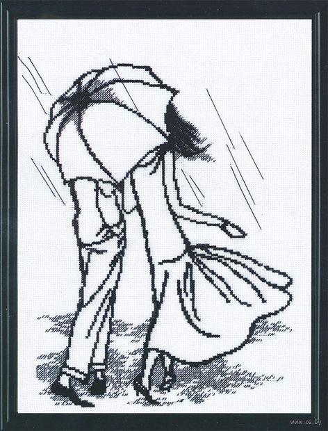 """Вышивка крестом """"Танец под дождем"""""""