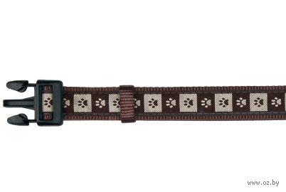 """Ошейник нейлоновый для собак """"Modern Art Collar Coffee"""" (размер L-XL; 40-65 см; коричневый)"""