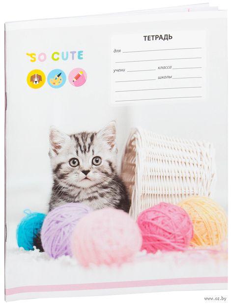 """Тетрадь в линейку 12 листов """"Питомцы. So Cute"""""""