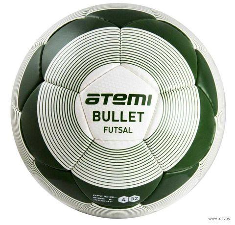 """Мяч футбольный Atemi """"Bullet Futsal"""" №4 (бело-зелёный) — фото, картинка"""