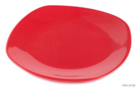 Тарелка керамическая (265 мм; красная) — фото, картинка