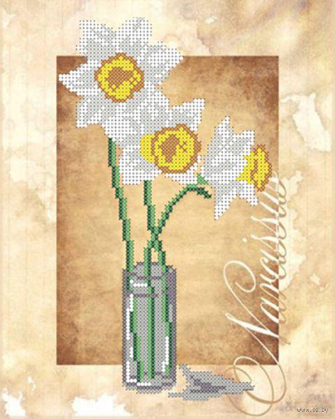 "Вышивка бисером ""Нарциссы"" (250х190 мм) — фото, картинка"