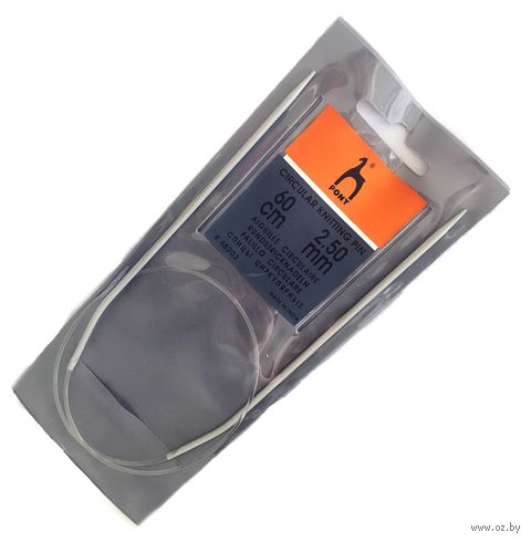 Спицы круговые для вязания (металл; 2,5 мм; 60 см) — фото, картинка