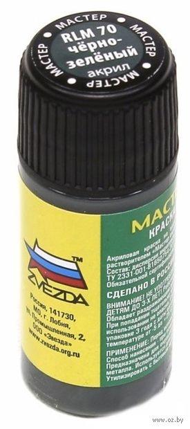 """Краска акриловая """"Мастер Акрил"""" (Черно-зеленый, МАКР70)"""