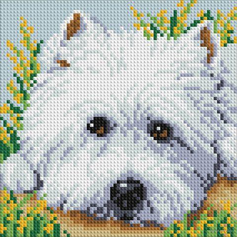 """Алмазная вышивка-мозаика """"Милый щенок"""""""