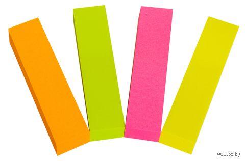 Набор закладок клейких (4 цвета по 100 шт.) — фото, картинка