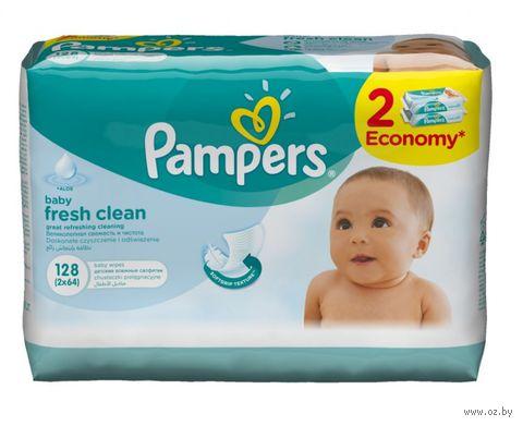 """Влажные салфетки детские """"Pampers Baby Fresh"""" (128 шт.) — фото, картинка"""