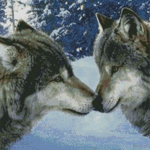 """Алмазная вышивка-мозаика """"Волчий поцелуй"""""""
