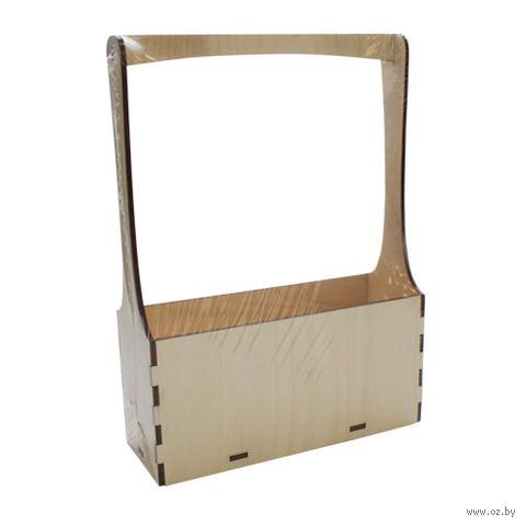 """Заготовка деревянная """"Ящик под чай"""" (210х155х55 мм)"""