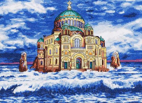"""Вышивка крестом """"Морской Никольский собор"""" (Кронштадт)"""